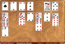 Solitaire Rush at Worldwinner