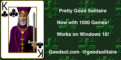 Over 800 solitaire games including FreeCell and Spider!